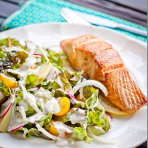 Buttered Salmon & Summer Salad