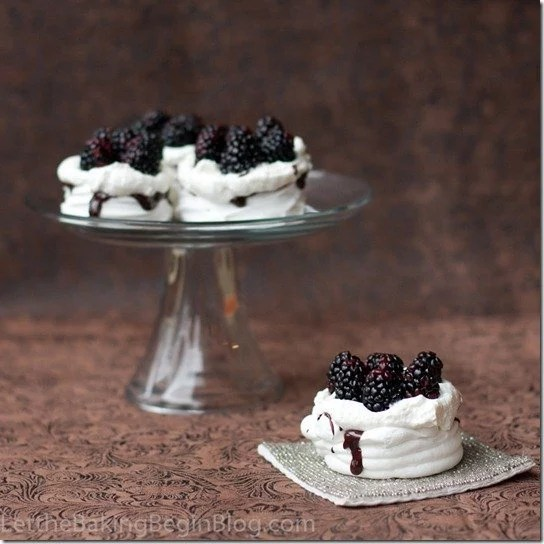 Miniature versions of the Boccone Dolce are a hit at parties with no messy cake cutting. Cousins of the Pavlova dessert they are slightly crunchy meringue baskets filled with Chantilly Cream, Berries and Chocolate Ganache. Yum!