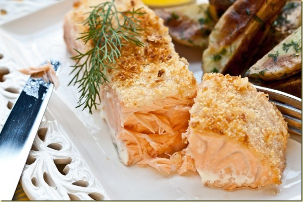 Parmesan crusted salmon adapted from cook 39 s illustrated for Parmesan crusted fish