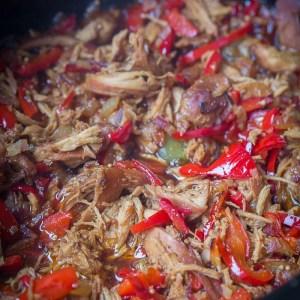 Crock Pot Bell Pepper Chicken {Slow Cooker}