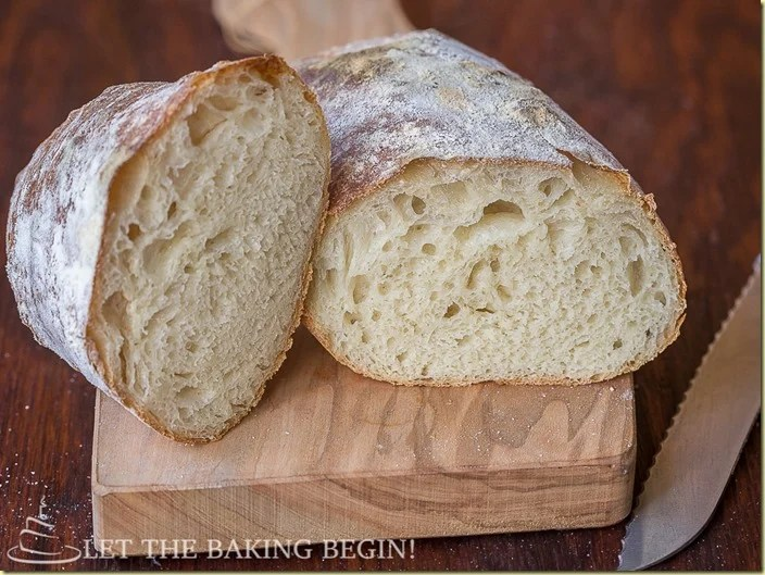 Rustic Farmer's Bread - Golden Crackly Crust with Chewy Crumb, a few basic ingredients is all it takes to make this beauty. by LettheBakingBeginBlog.com