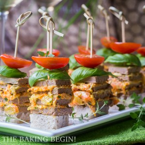 Skewered Chicken Pâté Stacks