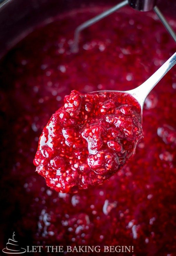 With the taste of Fresh Raspberries, this refrigerator Jam is good on practically anything - crepes, pancakes, Greek yogurt, cottage cheese, French toast, parfait, raspberry lemonade and I bet you can come up with other things!