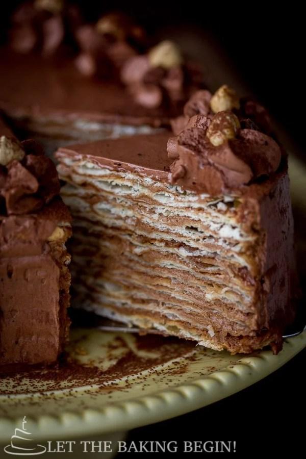 Cake With Chocolate Custard : Mikado   Layer Cake with Chocolate Custard Buttercream ...