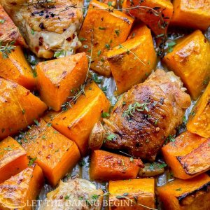 One Pan Chicken and Squash Dinner