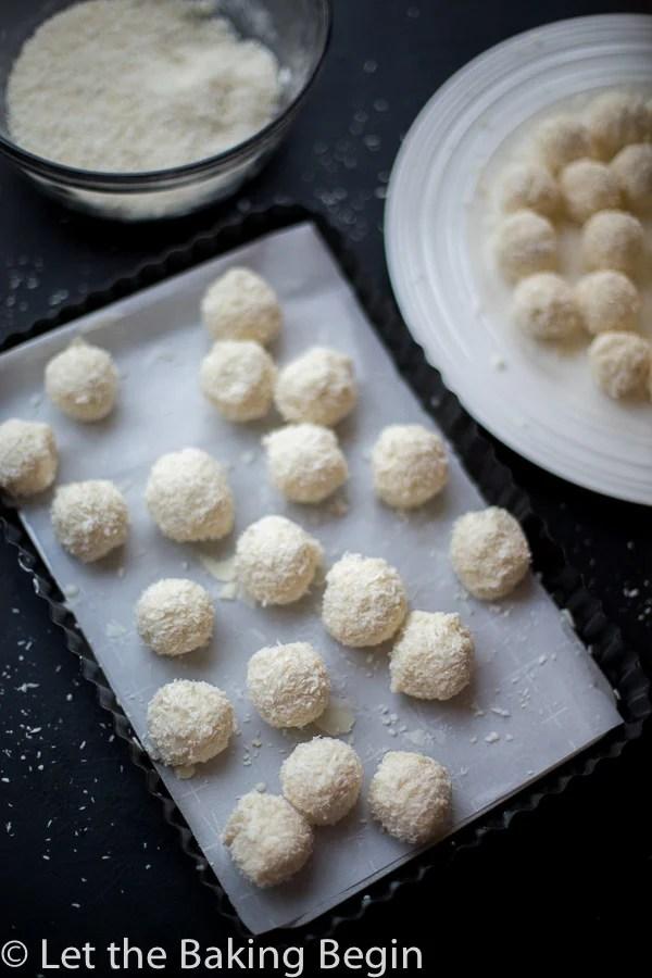 White Chocolate Coconut Candy (Raffaello Copycat) - Let the Baking ...