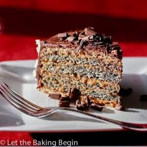 Poppy Seed cake with Dulce de Leche Buttercream