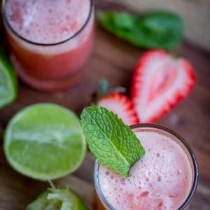 Strawberry-Mint Limeade