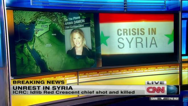 Arwa Damon in Syria...