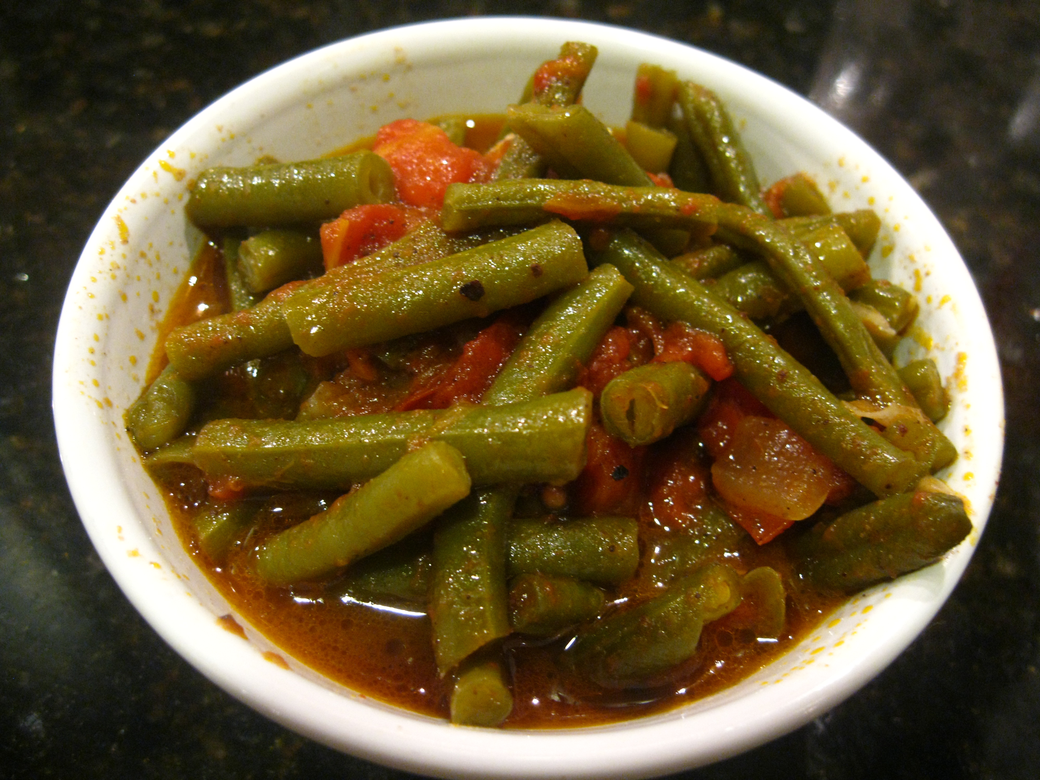 green beans with tomatoes and olive oil. Black Bedroom Furniture Sets. Home Design Ideas