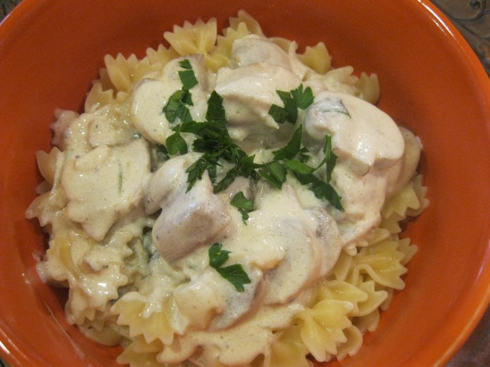 Chicken Mushroom Alfredo | The Levantess