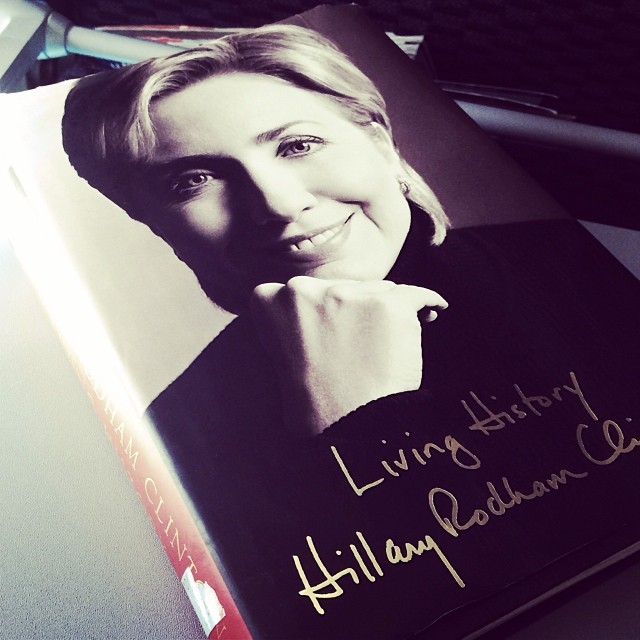 I started this book on my way to DC and finished it today in my way back to SF; a very long memoir, but if she runs, its a must read. #book#bookiread#hillary#clintons#politics