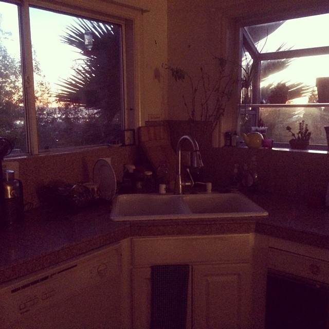 Kitchen with the view. I love cooking n washing now.