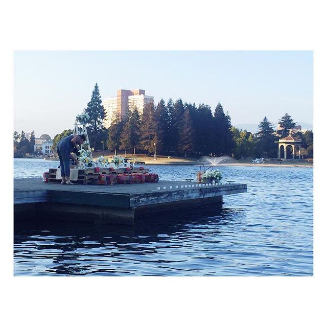 Simple celebration of love. Lake Merritt, Oakland.