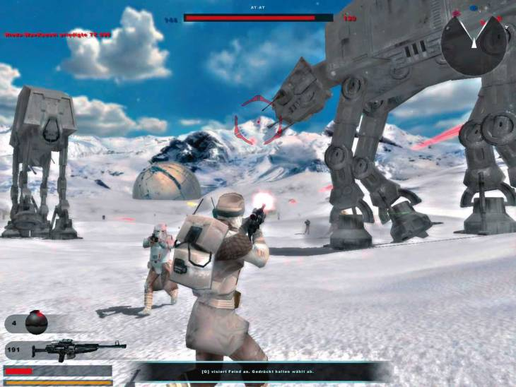 Hoth in the original Battlefront. I'm a little tired of this scenario. It is in every game.