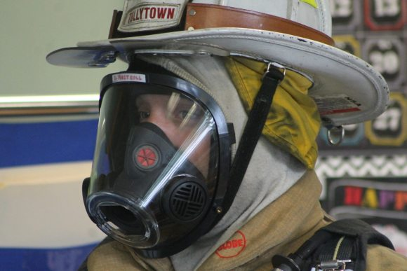 Fire Chief Suits Up To Teach Kids About Safety