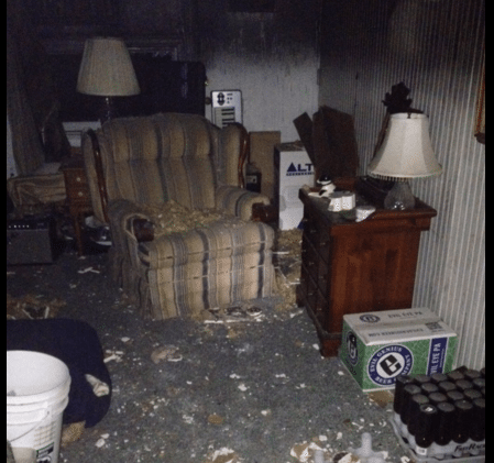 Thanksgiving Fire Leaves Home Badly Damaged