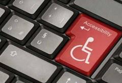 Wheel chair image on keyboard