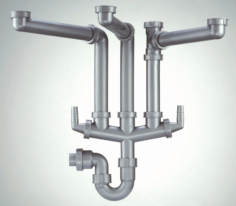 MN AQ 15480 Franke Siphon III Plumbing Kit For Triple Bowl Kitchen Sink3864