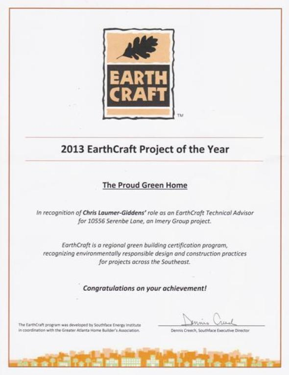 2013 EarthCraft House Project of the Year LG Squared, Inc.