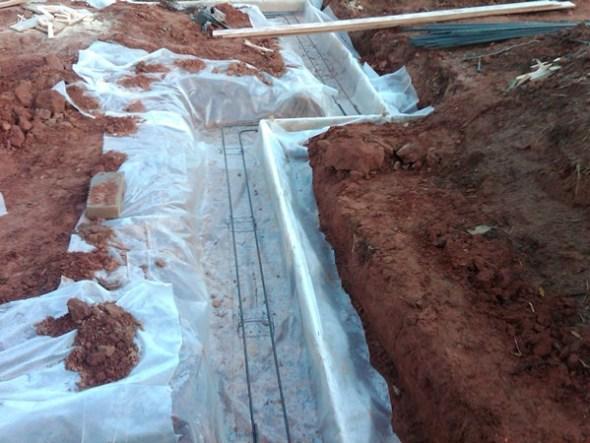 Proud Green Home Construction Update Footing Capillary Break