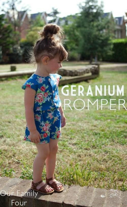 Geranium Romper