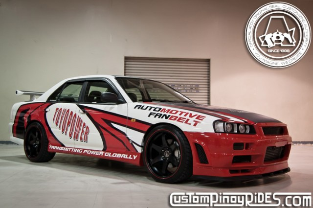 Custom Pinoy Rides Toyo Power Nissan R34 Skyline Sedan by Atoy Customs