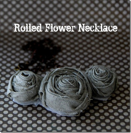 rolled flower necklace