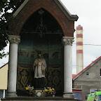 Small streetside chapel on Bożogrobców in Chorzów Stary, power station in backgrond.