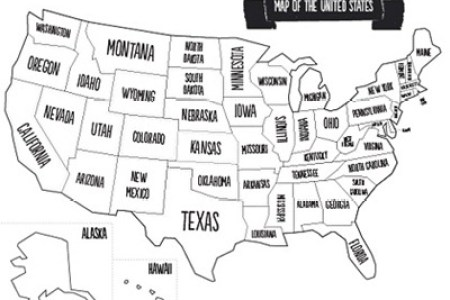 printable map of the united states for children