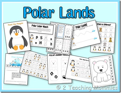 polar bear themed printables label the polar bear body parts the bear ...