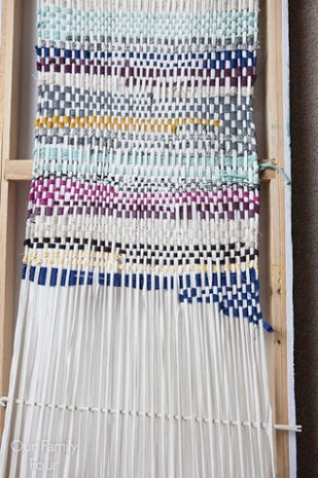 Woven Fabric Scrap Wall Art 2