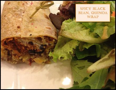 Choices Cafe Black Bean Wrap