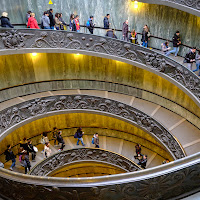 monumental staircase - Fujifilm X-E1 at the Vatican museum