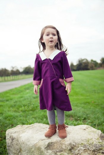 Cuffed and Color Blocked Sunday Picnic Dress at Our Family Four 13