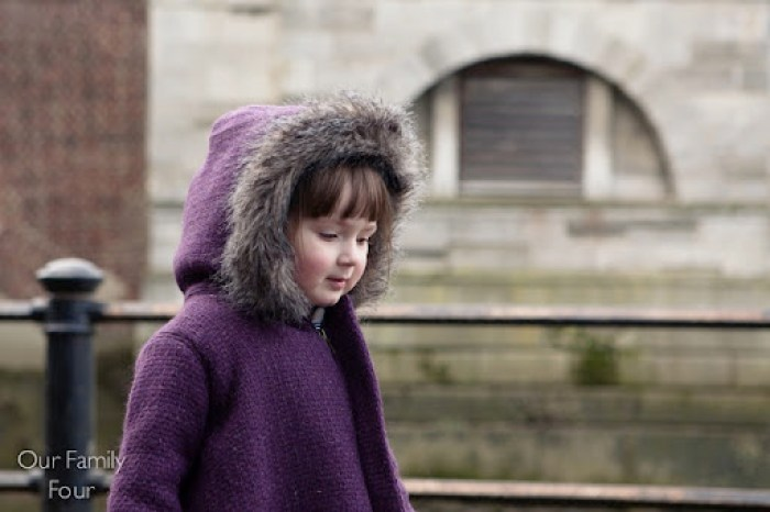 Furry Plum Coat at Our Family Four 18