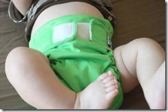 Softbums Omni Cloth Diaper On Baby - Front View