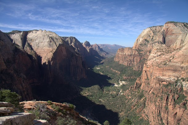 The View up Zion Canyon