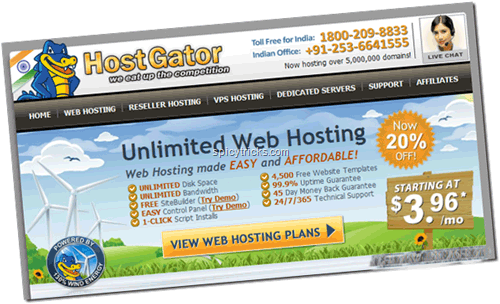 HostGator Launched Indian Web Hosting,Free/trial hosting for 7 days