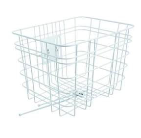 Electra White Steel Mesh Front Basket - $65 - One of our favourites cos it's big and strong and carries heaps of stuff