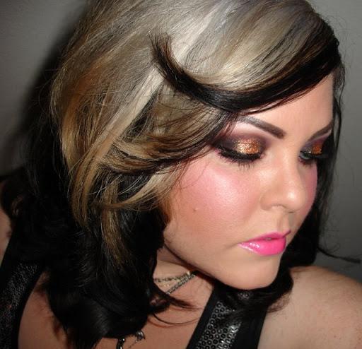 MAC Gold Glitter & Neon Lip Look