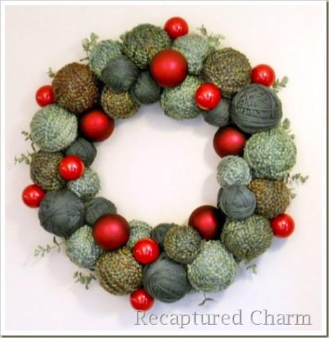 yarn christmas wreath 015a