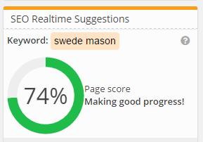 Webtexttool SEO Page Score