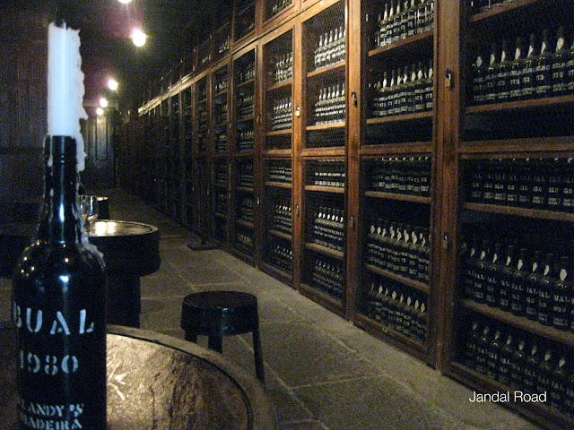 The vintage cellar at the Old Blandy Wine Lodge