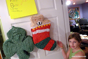 Contest #2: Pinata Battle.  Last pinata standing.  The christmas stocking wins!