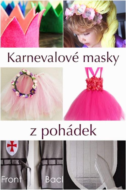 Masky na karneval z pohádek