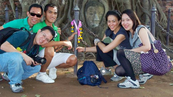Friends at Ayutthaya
