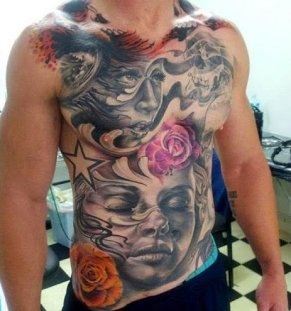 face tattoos designs for Chest