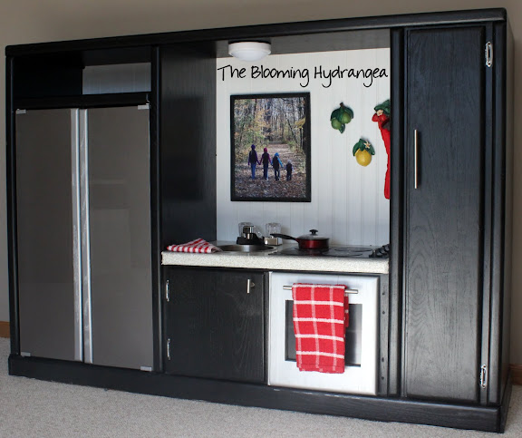 Tv Cabinet Made Into Play Kitchen: DIY Entertainment Center Into A Play Kitchen