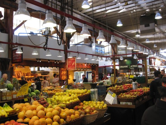 One of the great things to do in Vancouver: Granville Island fruit market